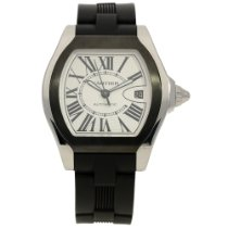 Cartier Roadster 3312 - Automatic Movement - Black Rubber Strap