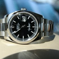 Rolex OYSTER PERPETUAL DATEJUST 36mm black index/oyster