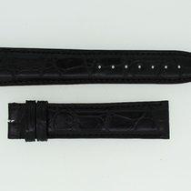 IWC Lederband / Alligator / Schwarz 20/18mm 125/85mm