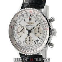 Breitling Navitimer Stainless Steel Chronograph Silver Dial...