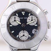 까르띠에 (Cartier) 21 Chronoscaph Stahl Steel black Dial Klassiker...