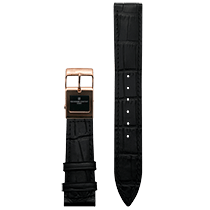 Frederique Constant E-Strap Black Rose Gold Plated 20mm