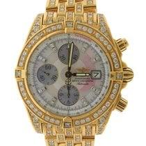 ブライトリング (Breitling) 18k Yellow Gold Auto- Date Chronograph...