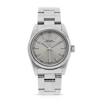 Rolex Oyster Perpetual Silver Baton Dial, Ref: 77080