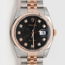 Rolex Datejust 36mm Steel and Rose Gold Diamond Hour Marker...
