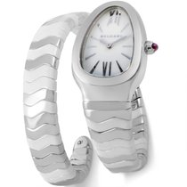 Bulgari Serpenti Spiga 35mm Stainless Steel and Ceramic