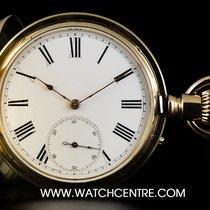 An 18k Yellow Gold Full Hunter Pocket Watch