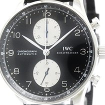 IWC Polished Iwc Portuguese Chronograph Steel Automatic Watch...