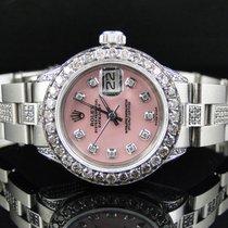 Rolex Ladies Stainless Steel Rolex Datejust Oyster Watch 8 Ct...