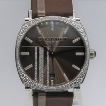 Chaumet Dandy Automatic White Gold 18K Diamonds Bezel Unisex 1217