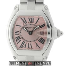 Cartier Roadster Stainless Steel Pink Dial 31mm