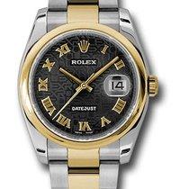 Rolex Unworn 116203 Datejust 36mm in 2-Tone with Domed Bezel -...