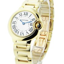Cartier W69001Z2 Ballon Bleu Small Size - Yellow Gold on Bracelet