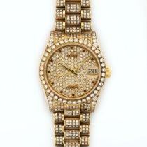 Rolex Yellow Gold Datejust Diamond Bracelet Watch
