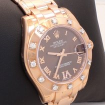 Rolex Masterpiece 81315 18k Rose Gold Chocolate Dial Diamond...