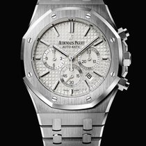 Audemars Piguet 26320ST Royal Oak Automatic 41mm White Siver...