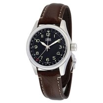 Oris Big Crown Pointer Date Black Dial Brown Leather Men's...
