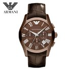 Armani Men's AR1609 Quartz Watch With Brown Leather