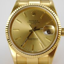 Rolex Date ref. 15238 solid yellow gold 18Kt