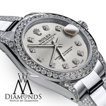 Rolex Ladies 26mm S/s Rolex Oyster Perpetual Datejust Custom...
