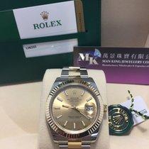 Rolex 126333 Datejust II 41mm Champagne Index Oyster Bracelet