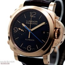 파네라이 (Panerai) Luminor Flyback 3 Days PAM 00525 18k Rose Gold...