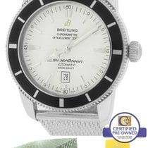 Breitling SuperOcean Heritage 46 A17320 Black White 46mm Mesh...