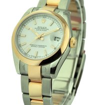 Rolex Unworn 178243 Mid Size Steel and Yellow Gold Datejust -...