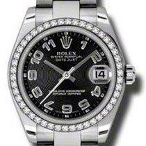 Rolex Datejust, Ref. 178384 - schwarz arabisch conc ZB/Oysterband