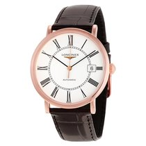 Longines Elegant White Dial 18K Rose Gold Automatic