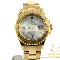 Rolex Yacht-Master Mother of Pearl Diamonds Blue Sapphire 18K...