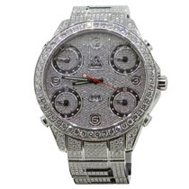 Jacob & Co. JC30 Five Time Zone Stainless Steel Full Pave...