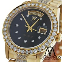 Rolex Diamond Presidential Rolex Day-date Black Diamond Dial,...