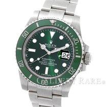 "Rolex Submariner Date Green Dial ""Hulk"" Stainless..."