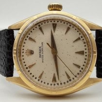 Rolex Oyster Perpetual 6285 Bubbleback 18 Kt GOLD 1954...