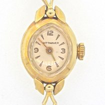 Wittnauer Solid 14K Yellow Gold Ladies Gemex Watch Works Fine
