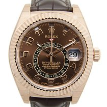 勞力士 (Rolex) Sky-dweller 18k Rose Gold Brown Automatic 326135BR