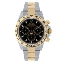 Rolex DAYTONA Steel & 18K Yellow Gold Watch Black Dial
