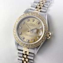 Rolex LADY DATEJUST 26mm STAHL GOLD DIAMANTEN BOX &...