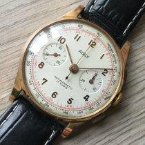 Aidix 18 KT Gold Chronograph Vintage Handaufzug
