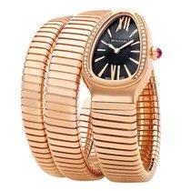 Bulgari Bvlgari Serpenti Tubogas 35mm Rose Gold Diamonds Watch