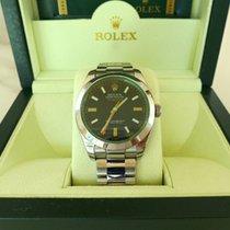 Rolex Milgauss 116400GV Black Dial Green Sapphire