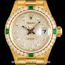 Rolex 18k Y/ G  Jubilee Dial Diamond & Emerald Set...