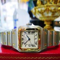 Cartier Santos Stainless Steel & Gold Quartz Roman Numeral...