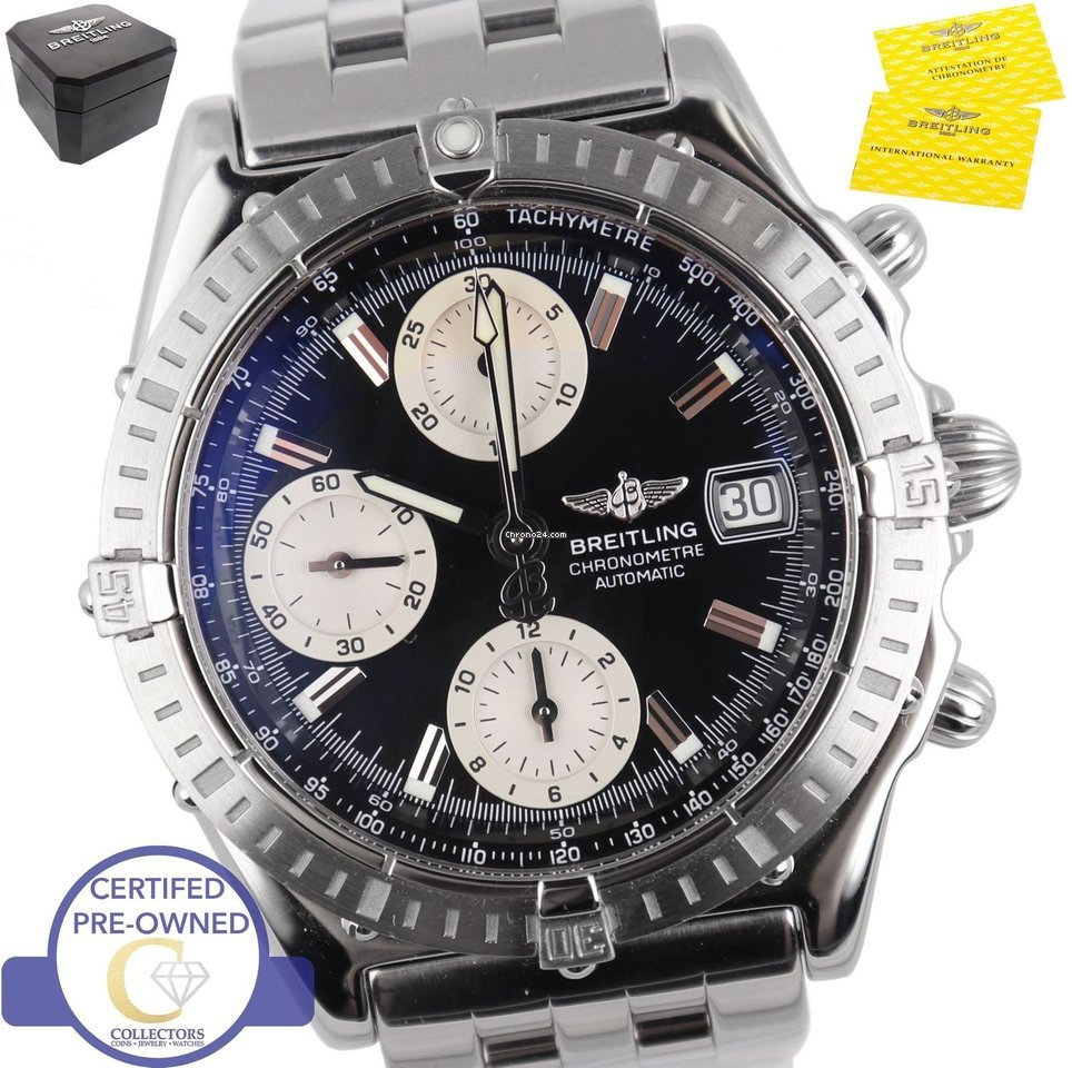 Breitling Chronomat Chronograph Stainless Steel Black A13352 For S 3212 Sale From A Trusted Seller On Chrono24