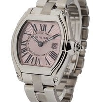 Cartier W62017V3 Ladys Roadster in Steel with Pnk Dial - Pink...