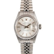 Rolex Vintage Datejust Ladies in White Gold on Jubilee, Ref: 6517