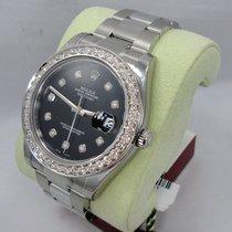 Rolex Datejust II 116300 3.25ct Diamond Bezel & Dial...