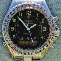 Breitling Chronographe Reveil Intruder A51035 In Acciaio Al...
