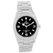 Rolex Explorer I Black Dial Mens Watch 114270 Box Papers